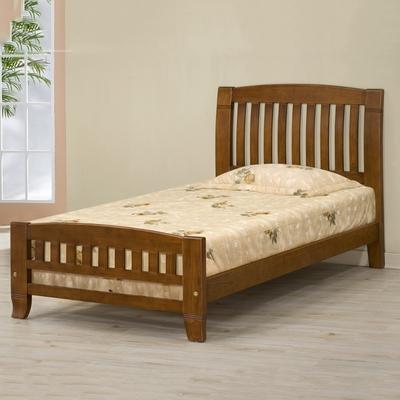 MUNA 巴比倫黃檀實木3.5尺單人床架(實木床板) 107.3X203.5X105.7cm