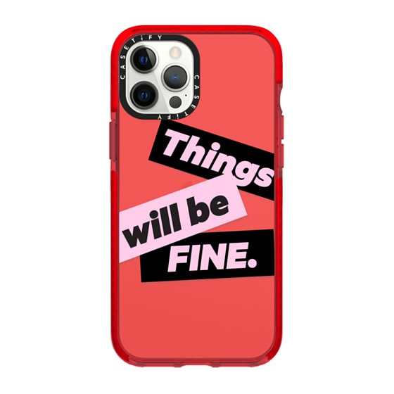 CASETiFY iPhone 12 Pro Max Impact Case - Things will be fine