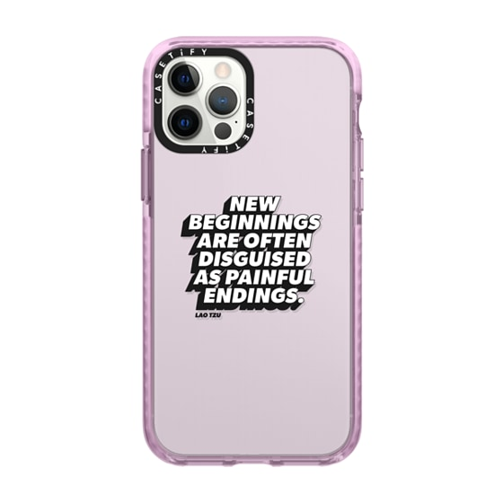 CASETiFY iPhone 12 Pro Impact Case - New Beginnings iPhone Case by Quotes by Christie