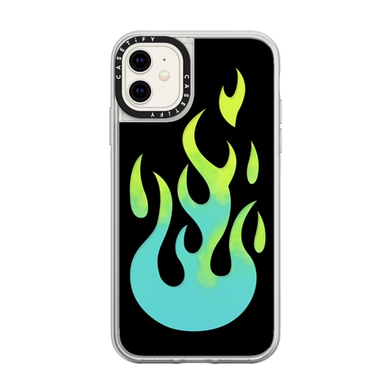 CASETiFY iPhone 11 Neon Sand Liquid Case - FLAMES