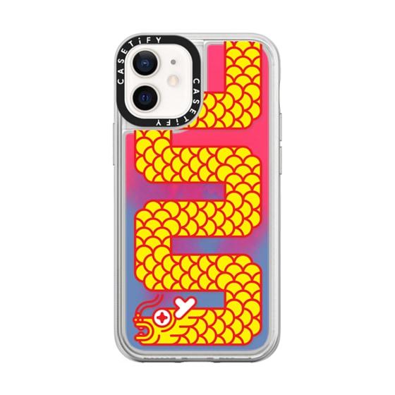 CASETiFY iPhone 12 mini Neon Sand Liquid Case - Dragon People