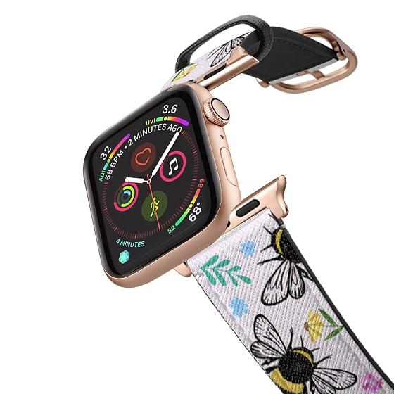 CASETiFY Apple Watch Band (42mm/44mm) Saffiano Leather Watchband V4 - Bees In love