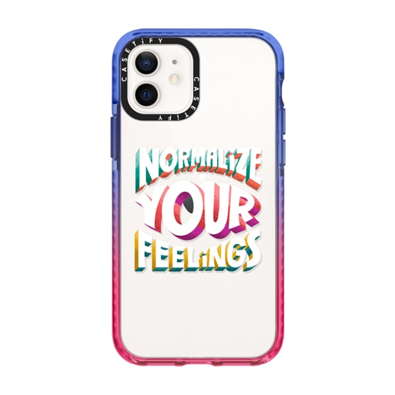 CASETiFY iPhone 12 Impact Case - Normalize Your Feelings phone case by Artsy Affirmations