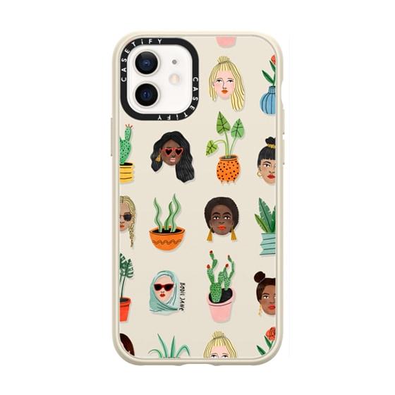 CASETiFY iPhone 12 Casetify Black Impact Resistance Case - BABES & BOTANICALS BY BODIL JANE