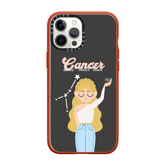 CASETiFY iPhone 12 Pro Max Impact Case - Cancer 8 Phone Case by The Beau Studio