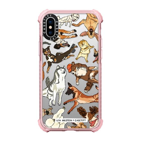 CASETiFY iPhone X Ultra Impact Case - Ilya Milstein - Dogs