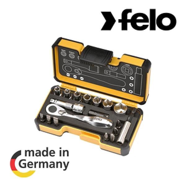 【德國FELO】057迷你棘輪板手起子套筒組18件組XS18