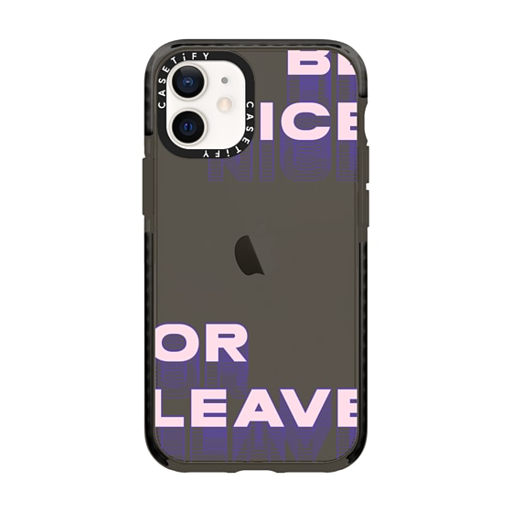 CASETiFY iPhone 12 mini Impact Case - be nice or leave