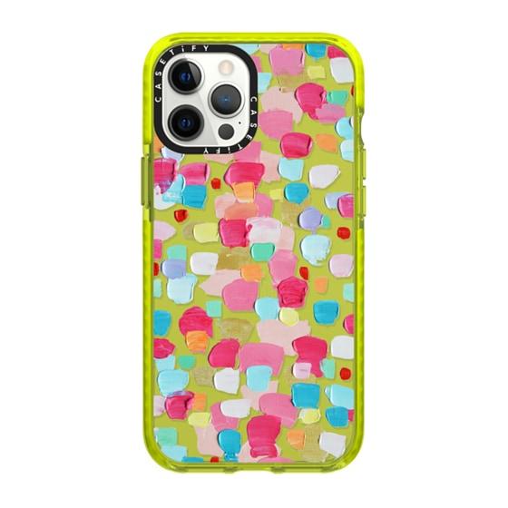 CASETiFY iPhone 12 Pro Max Impact Case - Magenta Confetti