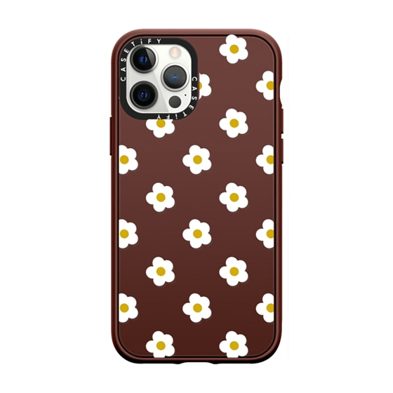 CASETiFY iPhone 12 Pro Max Casetify Black Impact Resistance Case - Ditsy Daisies