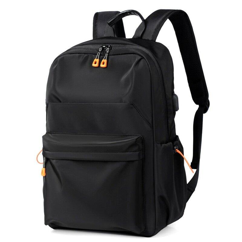 新款時尚學生書包防潑水牛津布休閒旅行雙肩包男女電腦雙背