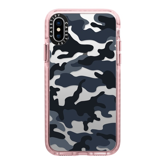 CASETiFY iPhone X Impact Case - Camo Over - Cool Black