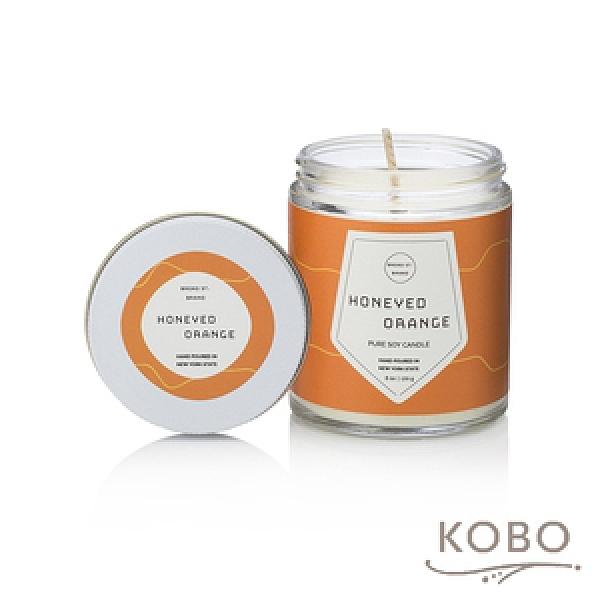 【KOBO】 美國大豆精油蠟燭-蜜香甜橙-170g/可燃燒35hr