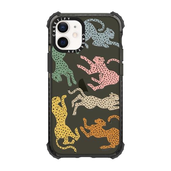 CASETiFY iPhone 12 mini Ultra Impact Case - Rainbow Cheetah by Megan Galante