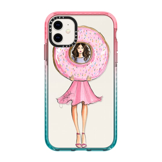CASETiFY iPhone 11 Impact Case - A Donut a Day (Fashion Illustration Transparent Case)