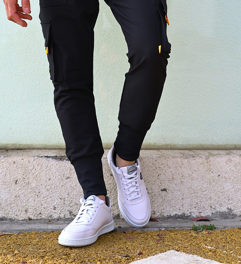 MIT【PACE休閒鞋-男款白】真皮透氣 經典版型 休閒簡約 型男穿搭