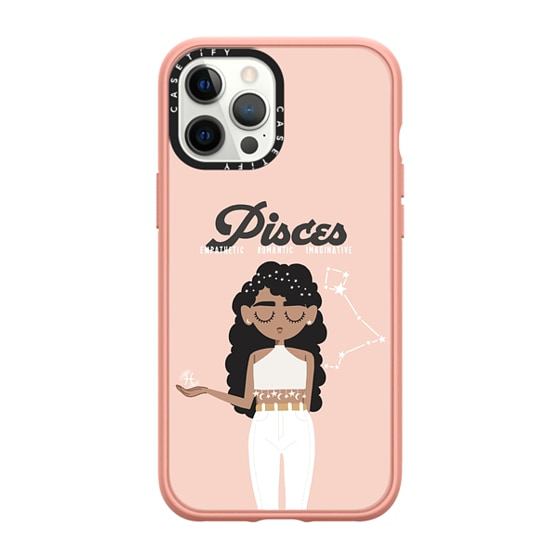CASETiFY iPhone 12 Pro Max Casetify Black Impact Resistance Case - Pisces 3 Phone Case by The Beau S