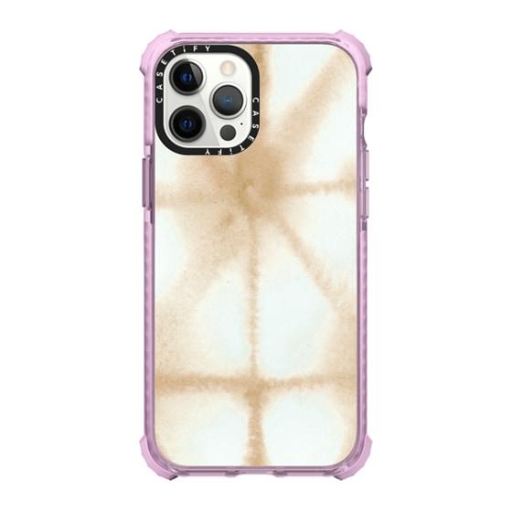 CASETiFY iPhone 12 Pro Max Ultra Impact Case - Golden Shibori iPhone Case