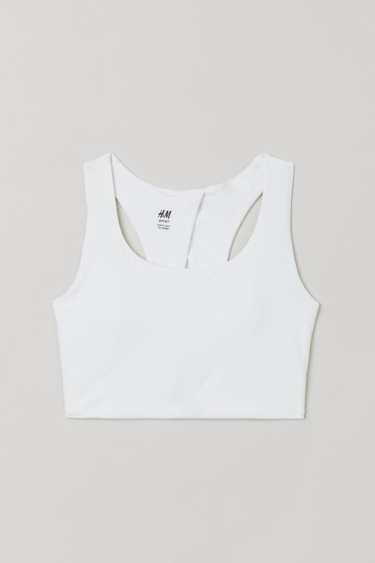 H & M - 高度支撐運動內衣 - 白色