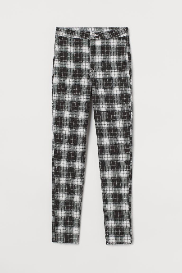 H & M - 斜紋長褲 - 黑色