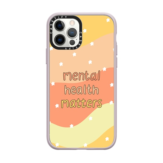 CASETiFY iPhone 12 Pro Impact Case - Mental Health Matters Phone Case by GMF Designs