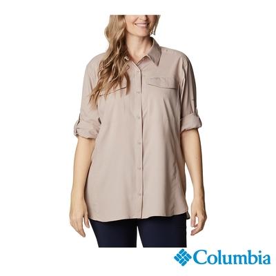 Columbia 哥倫比亞 女款- UPF40快排長袖襯衫-褐紫  UXR12790MA