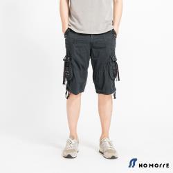 NoMorre 美式硬派輕薄透氣側袋工裝短褲-三色