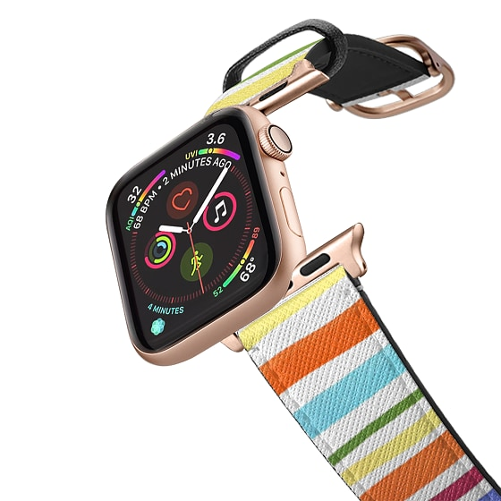 CASETiFY Apple Watch Band (42mm/44mm) Saffiano Leather Watchband V4 - Holly Nichols Collection, Rain