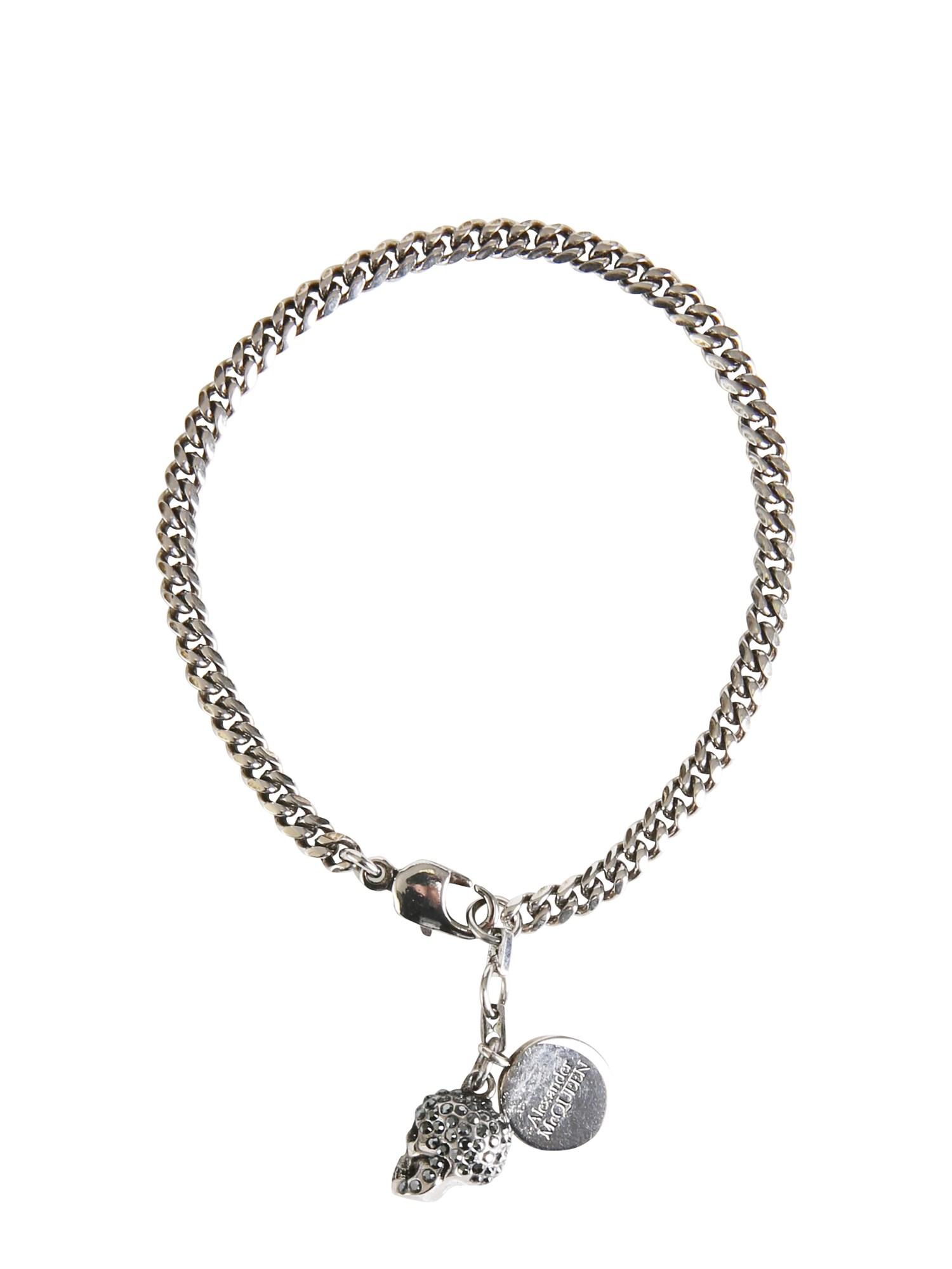 alexander mcqueen pavè skull bracelet