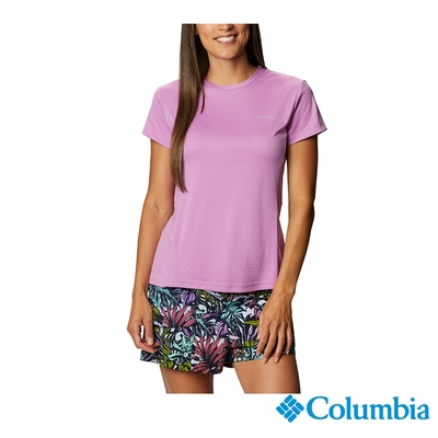 Columbia 哥倫比亞 女款- UPF50酷涼快排短袖上衣- 紫色 UAR29570PL