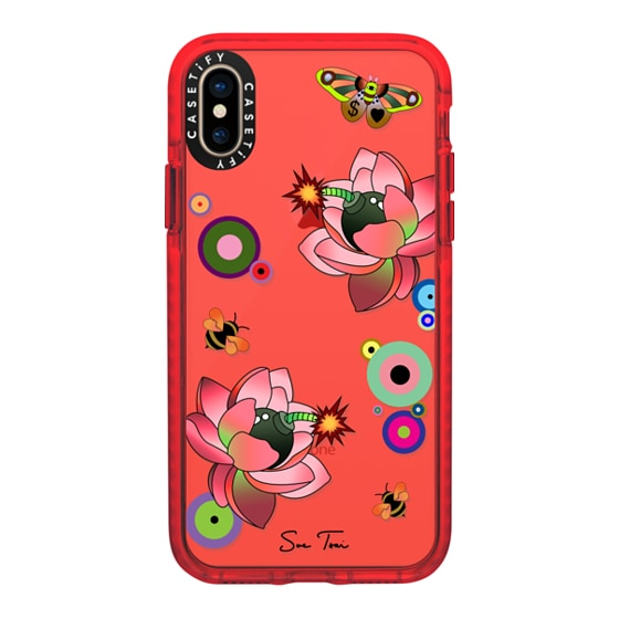 CASETiFY iPhone Xs Impact Case - PINK FLOWER BOMB IPHONE CASE BY SUE TSAI