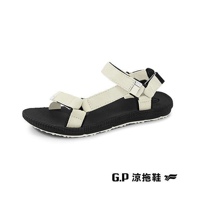 G.P(女)【Charm】撞色織帶涼鞋 女鞋-米(另有黑)