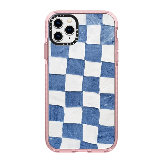 CASETiFY iPhone 11 Pro Max Impact Case - BLUE CHECKERS by ivy weinglass