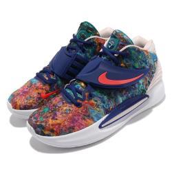 Nike 籃球鞋 KD14 EP 運動 男鞋 明星款 避震 包覆 支撐 球鞋 穿搭 彩 藍 CZ0170400 [ACS 跨運動]