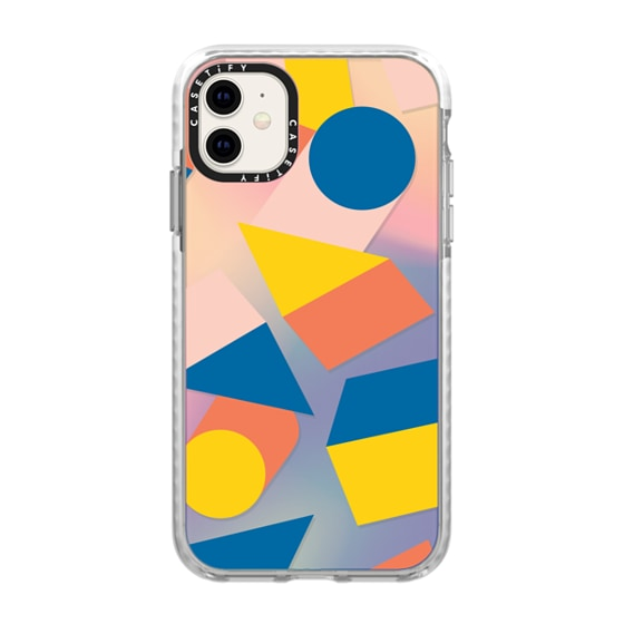 CASETiFY iPhone 11 Impact Case - Boxes & Cylinders by Poketo
