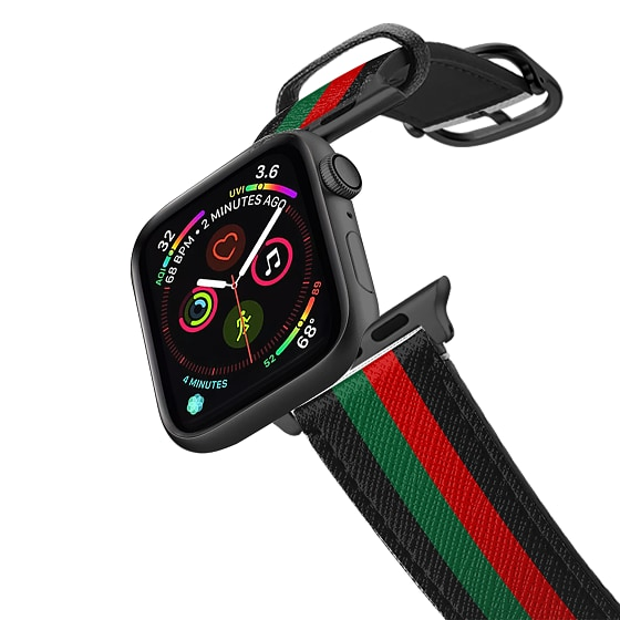 CASETiFY Apple Watch Band (38mm/40mm) Saffiano Leather Watchband V4 - Chic Stripe 1