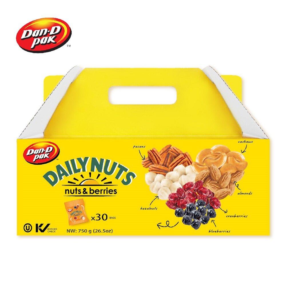 【Dan-D Pak 丹帝】每日混合果乾堅果仁(25gx30包)堅果禮盒 (3堅果+2果乾)