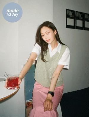 韓國空運 - (限量特價中) V領夏季針織背心 針織外套