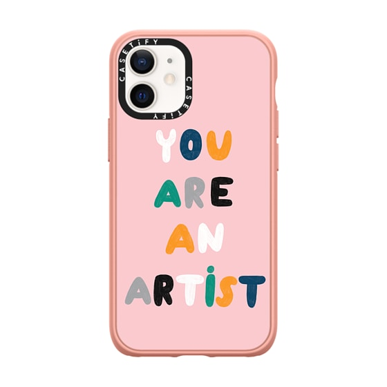 CASETiFY iPhone 12 mini Casetify Black Impact Resistance Case - YOU ARE AN ARTIST by Daria Solak Ill