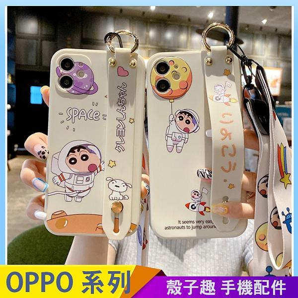 蠟筆小新腕帶軟殼 OPPO A72 A91 A9 A5 2020 手機殼 側邊印圖 直邊液態 保護鏡頭 影片支架 防滑防丟