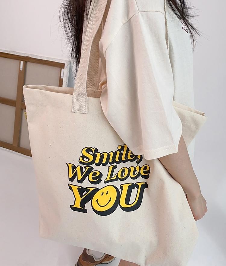 韓國空運 - Smile Eco Bag 帆布包