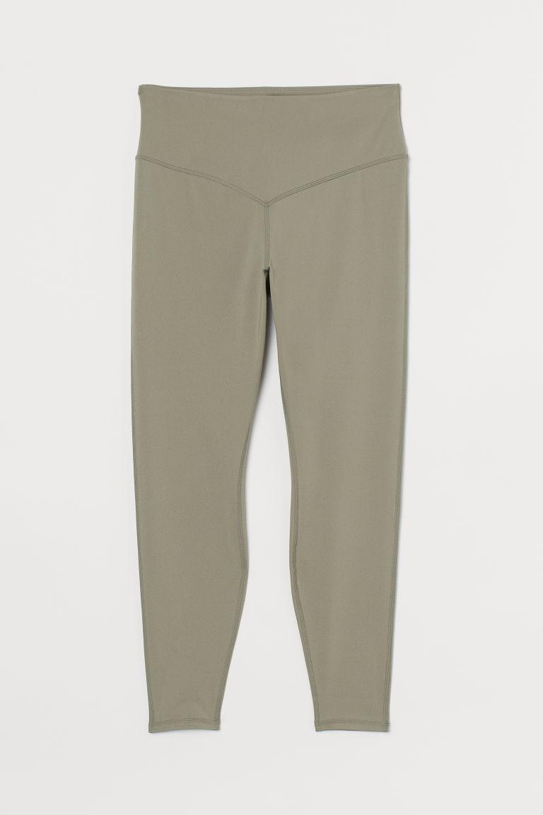 H & M - H & M+ 超高腰緊身褲 - 綠色