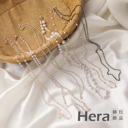 【HERA 赫拉】韓版復古珍珠水晶串珠口罩眼鏡防掉掛鍊-4款#H100513C(時尚 簡約 氣質)