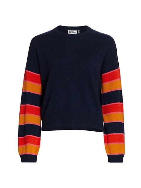 Demeter Striped-Sleeve Sweater