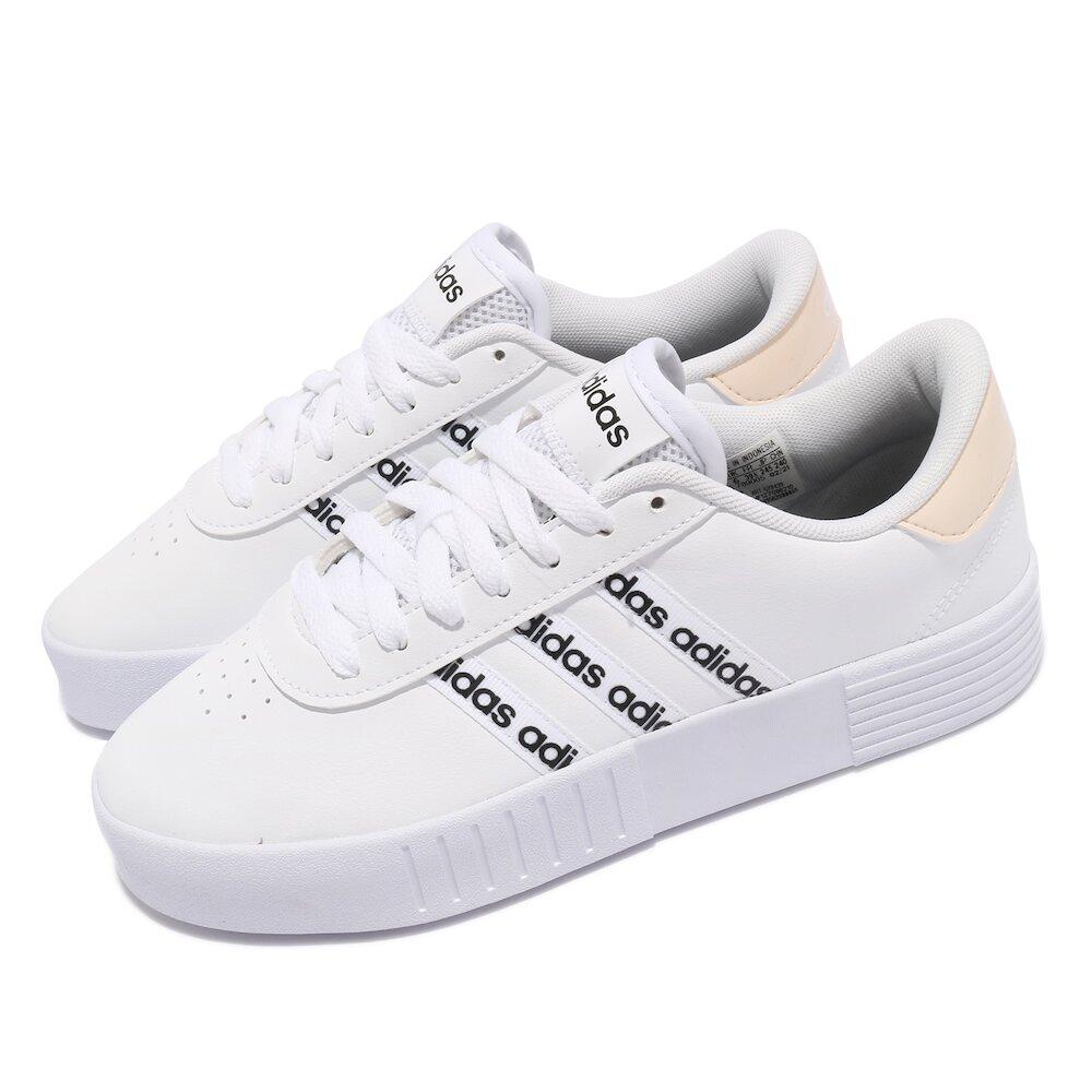 ADIDAS 休閒鞋 Court Bold 運動 女鞋 愛迪達 基本款 簡約 舒適 穿搭 白 黑 [GZ8439]