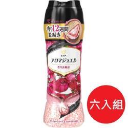 日本 P&G 2021最新版 幸福寶石衣物 香香豆470ml 紅薔薇香-6瓶