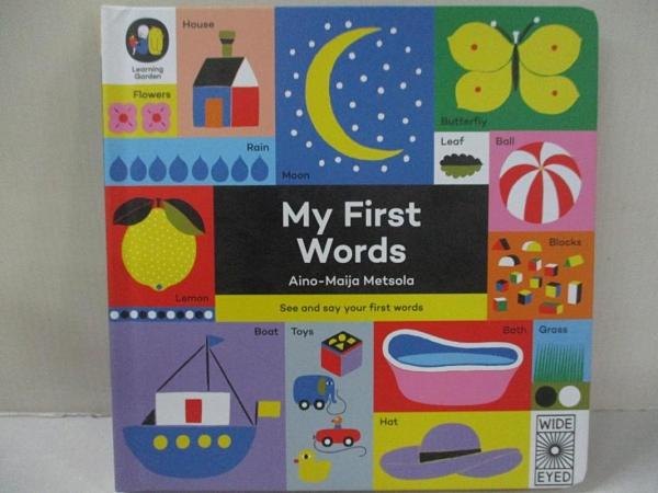 【書寶二手書T1/少年童書_FAX】My First Words_Metsola Aino-Maija