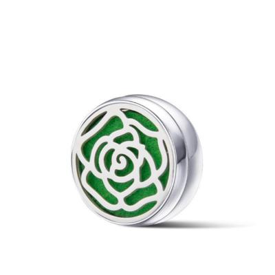 鈦鋼口罩薰香磁扣 銀 微醺玫瑰