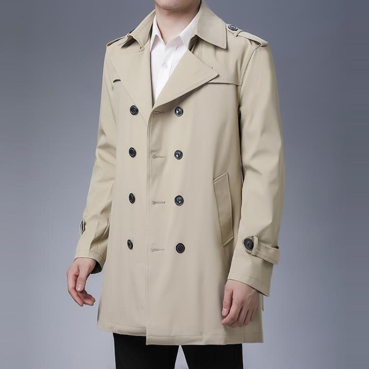 618預售-風衣男士中長款修身帥氣秋冬季2020新款男裝上衣外套韓版潮流大衣-限時下殺八五折