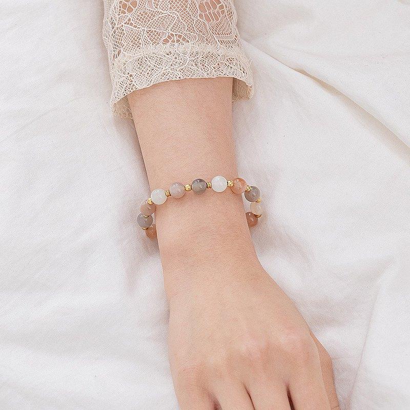 迷濛夜色‧月光石彈性手環-E40001